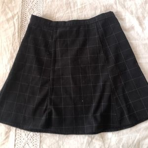American Apparel Black Grid Mini Skirt